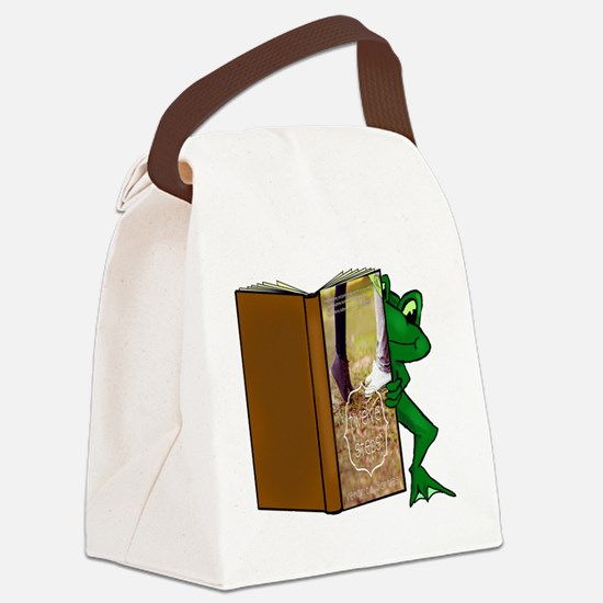 Frog & Book Canvas Lunch Bag