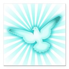 "Peace dove Square Car Magnet 3"" x 3"""