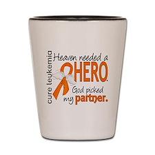 Leukemia Heaven Needed Hero 1.1 Shot Glass