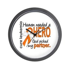 Leukemia Heaven Needed Hero 1.1 Wall Clock