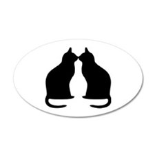 Black cats silhouette Wall Decal