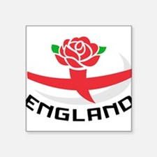 Rugby England English Rose Ball Flag Sticker