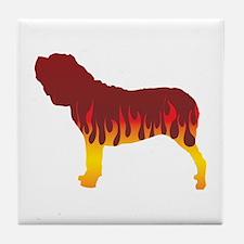 Neo Flames Tile Coaster