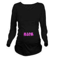 MEOW Long Sleeve Maternity T-Shirt