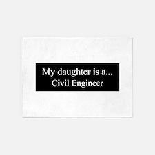 Daughter - Civil Engineer 5'x7'Area Rug