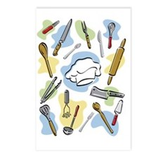 Chef's Tools Postcards (Package of 8)