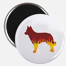 Mudi Flames Magnet