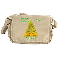 French Guiana Food Pyramid Messenger Bag