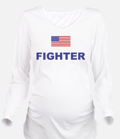 American Fighter Long Sleeve Maternity T-Shirt