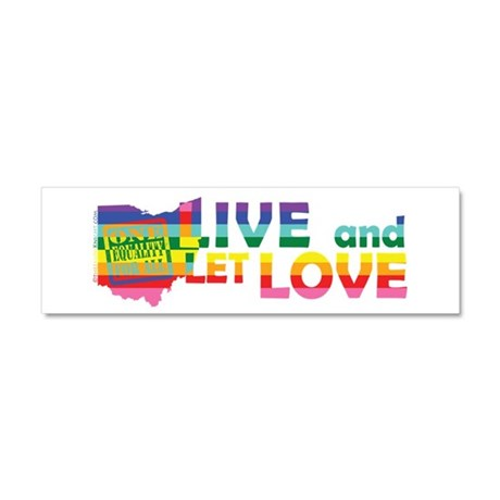 Live Let Love OH Car Magnet 10 x 3