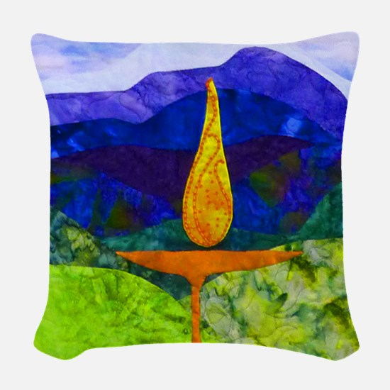 Mountain Chalice Woven Throw Pillow