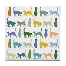 It's a Cattern (or cat pattern) Tile Coaster