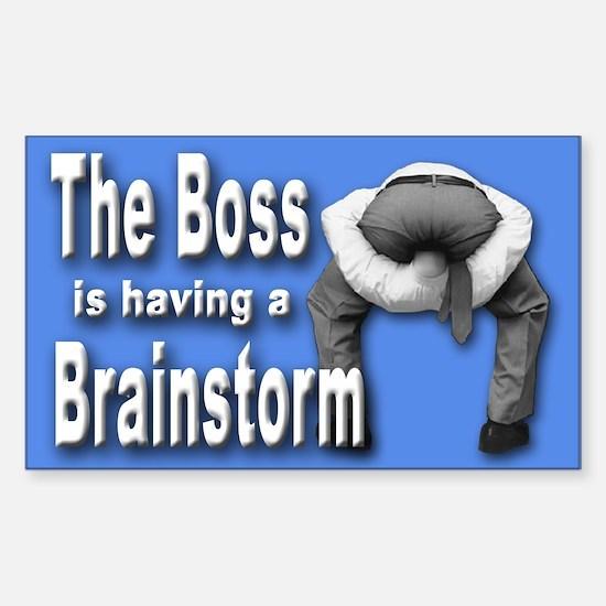 Bad Boss Brainstorm Rectangle Decal