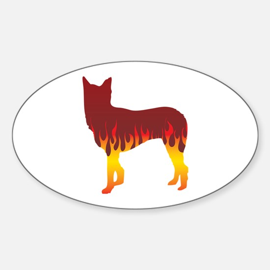 McNab Flames Oval Decal