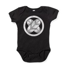 Intersecting hawk feathers in circle Baby Bodysuit