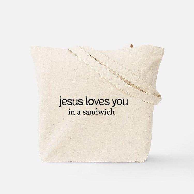 Jesus Sandwich Tote Bag