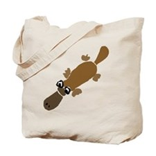 Duckbill Platypus Cartoon Tote Bag