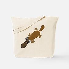 Duckbill Platypus Cartoon Tote Bag