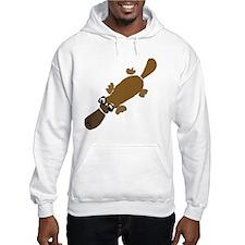 Duckbill Platypus Cartoon Hoodie
