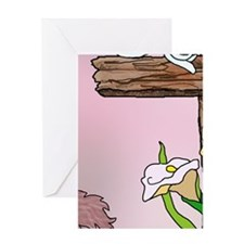 Easter Bunny Cross Greeting Cards