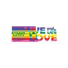 Live Let Love ND Wall Decal