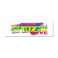 Live Let Love NC Car Magnet 10 x 3