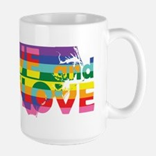 Live Let Love NC Mugs