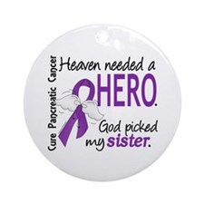 Pancreatic Cancer Heaven Needed H Ornament (Round)