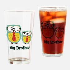 Nerdy Owl Big Brother Drinking Glass