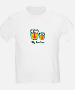 Nerdy Owl Big Brother T-Shirt