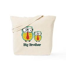 Nerdy Owl Big Brother Tote Bag