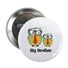 """Nerdy Owl Big Brother 2.25"""" Button"""