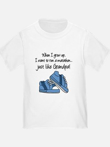 Run Marathon Just Like Grandpa T-Shirt