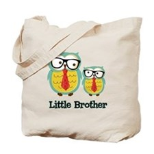 Nerdy Owl Little Brother Tote Bag
