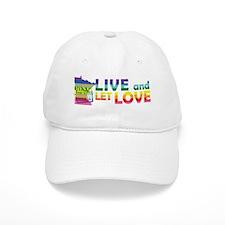 Live Let Love MN Baseball Baseball Cap