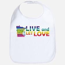 Live Let Love MN Bib