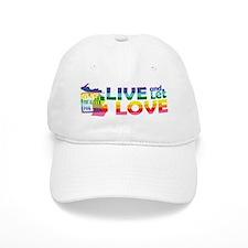 Live Let Love MI Baseball Baseball Cap