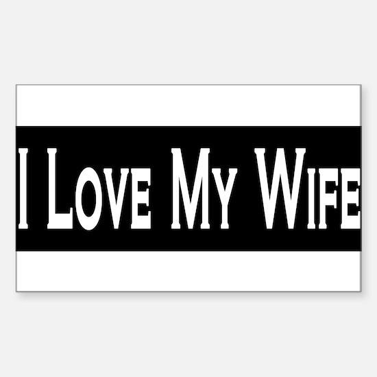 Unique I love my wife Sticker (Rectangle)