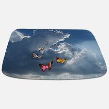 Butterfly Clouds Bathmat