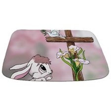 Easter Bunny Cross Bathmat