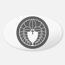 Hanging wisteria in circle Sticker (Oval)