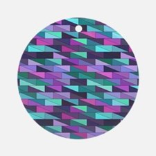 Colorful Geometry Round Ornament