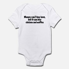 chicken and waffles (money) Infant Bodysuit