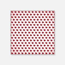Hearts Red Small Sticker