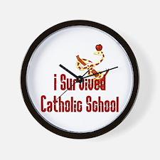 Catholic School Survivor Wall Clock