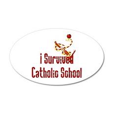 Catholic School Survivor Wall Decal