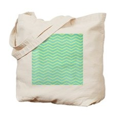 Teal and Gold Chevron Tote Bag