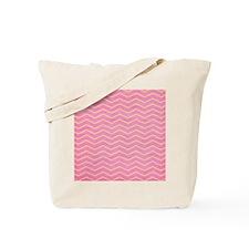 Pink and Lemon Chevron Tote Bag
