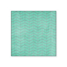 Teal and Great Chevron Sticker