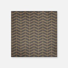 Charcoal and Beige Chevron Sticker